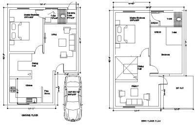 4BHK DUPLEX HOUSE PLAN