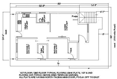 25×35 plot house plan first floor with balcony