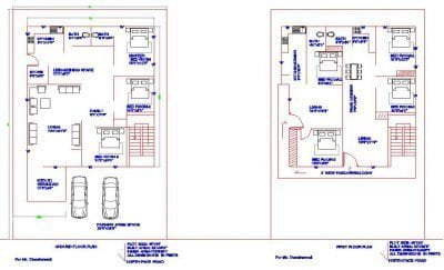 40X60-NORTH-FACE-GROUND-FLOOR-AND-FIRST-FLOOR-HOUSE-PLAN