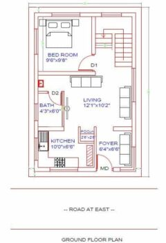 20x30-East-Facing-House-plan