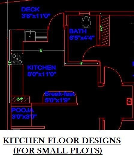 Kitchen floor designs FOR SMALL PLOTS